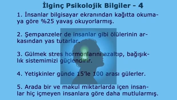 İlginç Psikolojik Bilgiler - 4 - Kapak