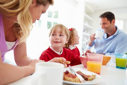 Okula gitmeden önce kahvaltı