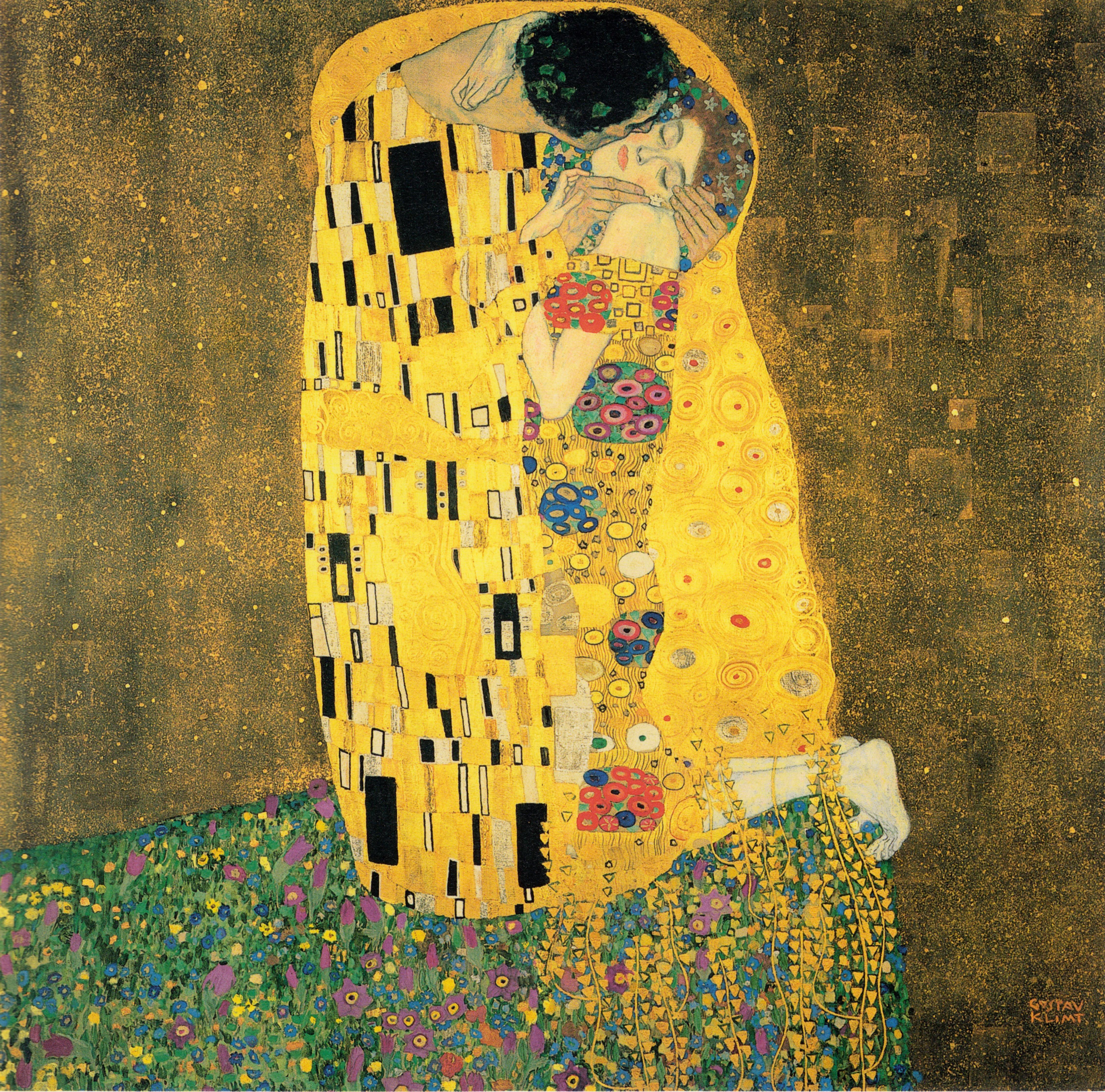 Gustav Klimt - Öpücük