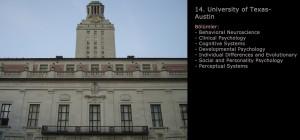 University of Texas Psikoloji Programı