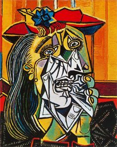 picasso crying